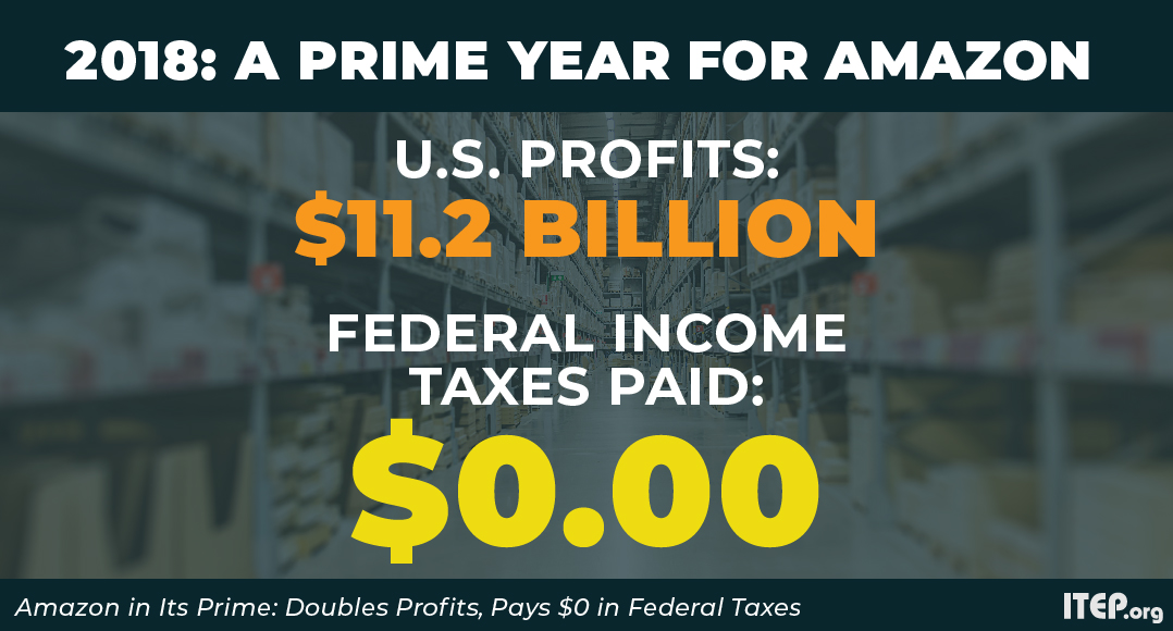 Amazon in Its Prime: Doubles Profits, Pays $0 in Federal Income Taxes
